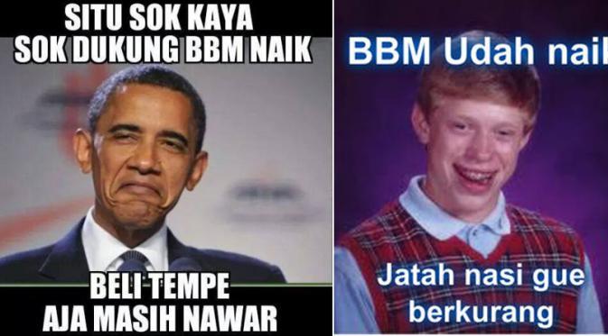 Kumpulan Gambar Meme Lucu BBM Naik  Warta Spot