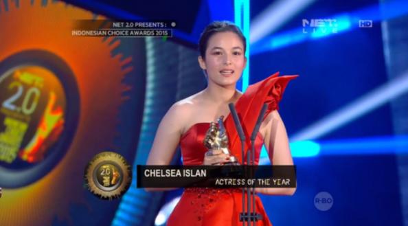 Chelsea Islan Jadi Aktris Terbaik Indonesian Choice Awards 2015